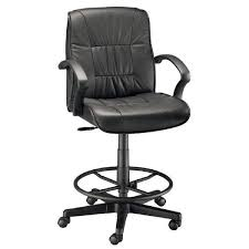 counter height desk chair alvin ch777 90dh executive leather drafting height chair abc office