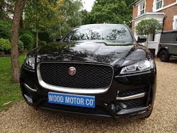 jaguar f pace black used black jaguar f pace for sale surrey
