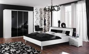 minimalist dark brown color matched black and white bedroom white