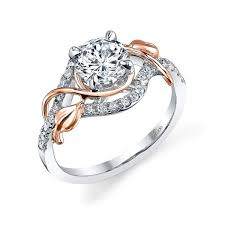 gold vintage engagement rings 18k white gold and 18k gold vintage engagement ring with