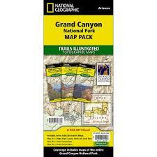 grand national park map grand national park trail maps map pack bundle national