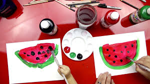 how to paint a watermelon art for kids hub