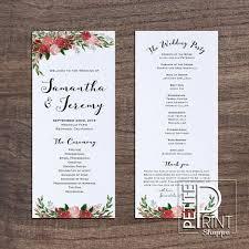 beautiful wedding programs designs inexpensive free wedding program templates tri fold with