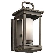 kichler outdoor lighting fixtures kichler 49474rz one light outdoor wall mount wall porch lights