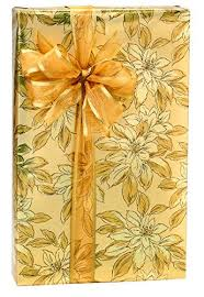 large rolls of christmas wrapping paper gold poinsettia golden sparkle christmas gift