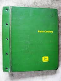 john deere 50 tractor parts catalog manual green jd binder