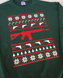 ugly christmas sweater ugly gun sweater ar ar 15 funny