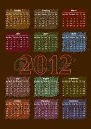 2012 annual calendar template on the black background weeks