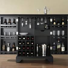 Crosley Bar Cabinet with Crosley Furniture Lafayette Expandable Home Bar Cabinet In Black
