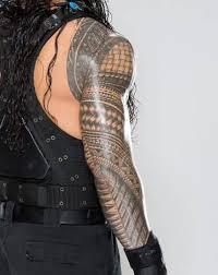 nice looking samoan tattoo design make on roman reign u0027s back