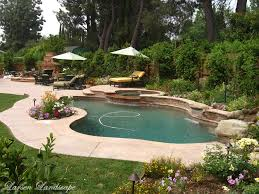 garden pool landscaping with pool decks and lawn also garden also