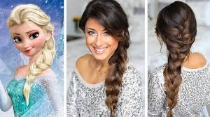 hair tutorial frozen elsa s braid hair tutorial luxy hair