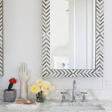 chevron bathroom ideas gray and white marble chevron bathroom accent wall design ideas