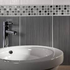Wall Border Tiles Linear Grey Mosaic Border Tiles Willow Tiles 250x80x7mm Tiles