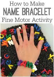 how to make name bracelet fine motor activity stir the wonder