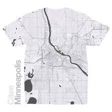 Map Of Minneapolis Citee Fashion Minneapolis Mn Map T Shirt