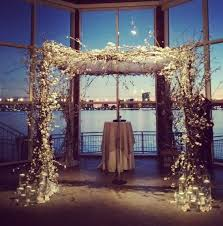 wedding arches with lights winter weddings