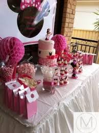 Pink And White Candy Buffet by Wafers Minnie Mouse Candy Buffet Pinterest Minnie Mouse