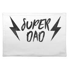 super dad lightning bolt rock u0027n roll script placemat script