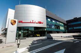 porsche headquarters stuttgart new porsche centre dubai inaugurated by al nabooda automobiles