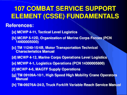 ppt 107 combat service support element csse fundamentals