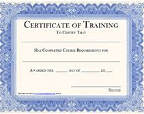 free printable certificates of training awards templates