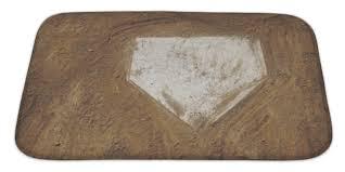 amazon com gear new home plate baseball bath mat microfiber
