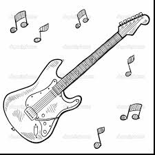 spectacular guitar coloring page alphabrainsz net