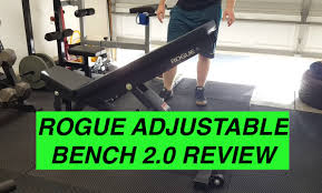 rogue adjustable bench 2 0 review youtube