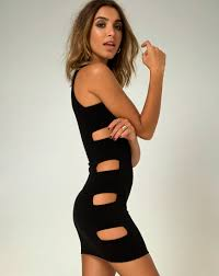 bodycon dresses cutout black bodycon dress sorcha motel rocks