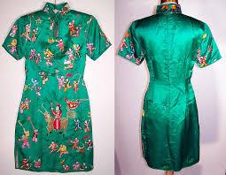 chinese cheongsam silk embroidered new year dress
