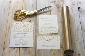 wedding invitation diy how to add gold to diy wedding invitations mountain modern