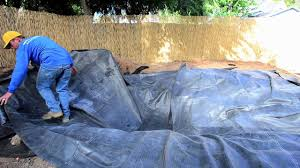 how to build a fish pond part 6 pond liner u0026 underlayment