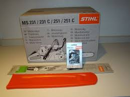 brand new stihl ms 251 c be petrol chainsaw 18