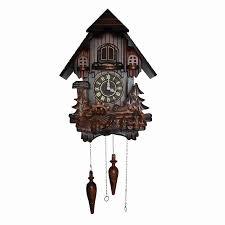 european cuckoo clocks light controlled time real wood manual