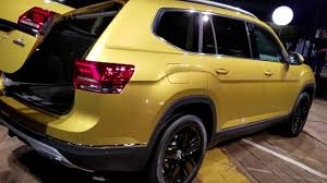 volkswagen atlas seating 7 seat 2018 vw v6 atlas suv revealed youtube