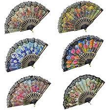 church fan floral folding fan size 9 1 dozen 12