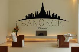 bangkok city skyline decal thailand vinyl sticker mural wall bangkok city skyline decal thailand vinyl sticker mural wall art