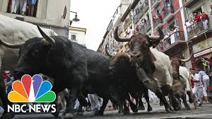 bull runners tumble onto cobbled streets on fourth day of pamplona
