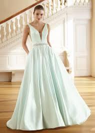 wedding dress grace v neck satin a line wedding dress with pockets 217215 grace