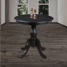 carolina cottage fairview antique black pedestal dining table