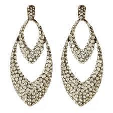 gunmetal chandelier earrings lesley earrings shop amrita singh jewelry