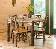 Rustic Dining Room Table And Chairs by Rustic Hickory And Oak
