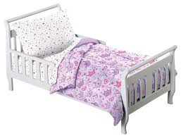 Comforters For Toddler Beds Princess Stars U0026 Crown Purple 4 Piece Toddler Bedding Set