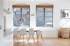 Modern White Dining Room Contemporary Chairs For Kitchen Combining Table And Popular