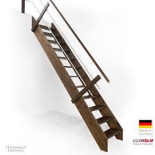 steinhaus treppen holztreppe als bausatztreppe für gh ab 258 cm mit edelstahl