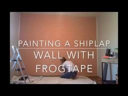 Painted Shiplap Walls Painting A Ship Lap Wall Youtube