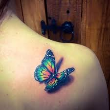 image result for 3d butterfly tattoos and butterfly