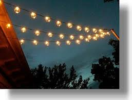solar deck string lights outdoor and patio simple stringighting with wicker winning