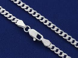 mens silver curb necklace images Sterling silver curb chain mens chain thick chain width jpg